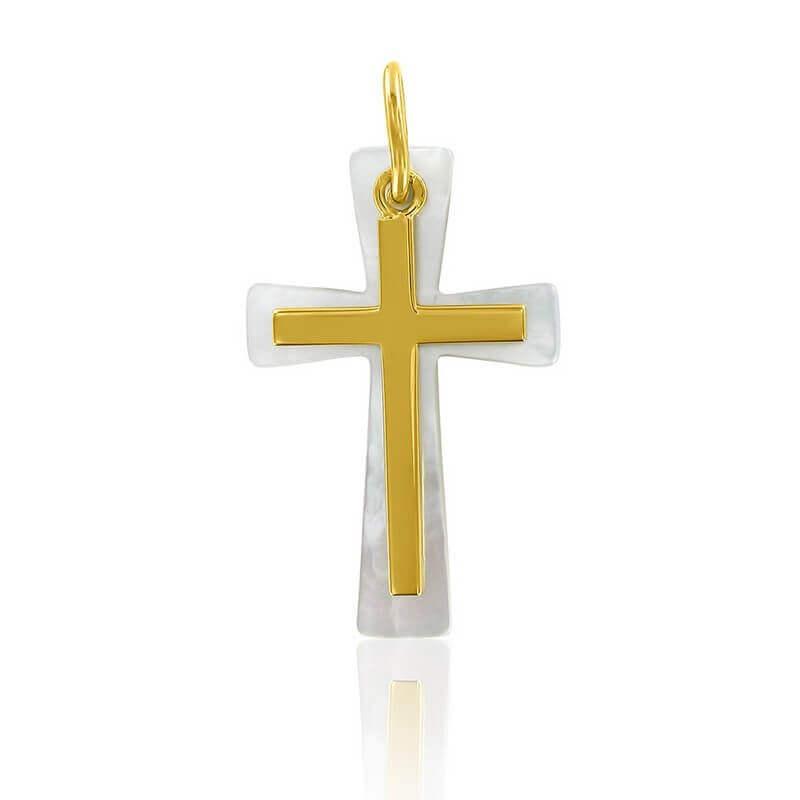 La médaille croix en or blanc, à découvrir sur la boutique Arthus Bertrand